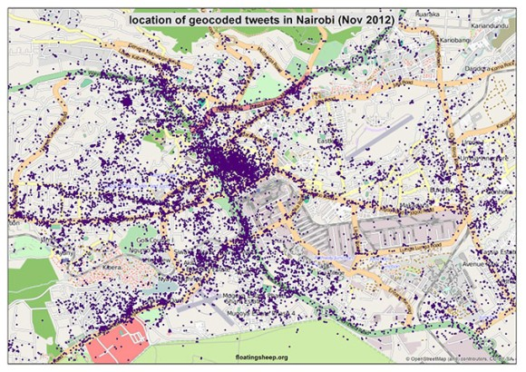 Nairobi - Crowdmap of Tweets
